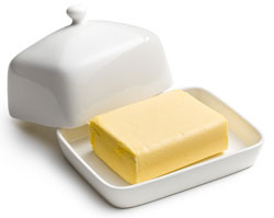 butter in butter dish