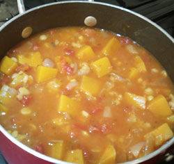 cooking squash soup