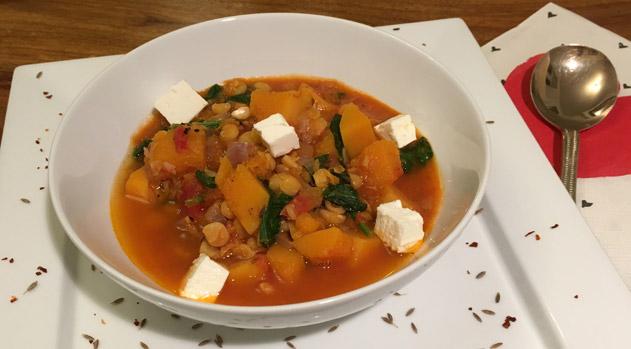 squash and split pea soup